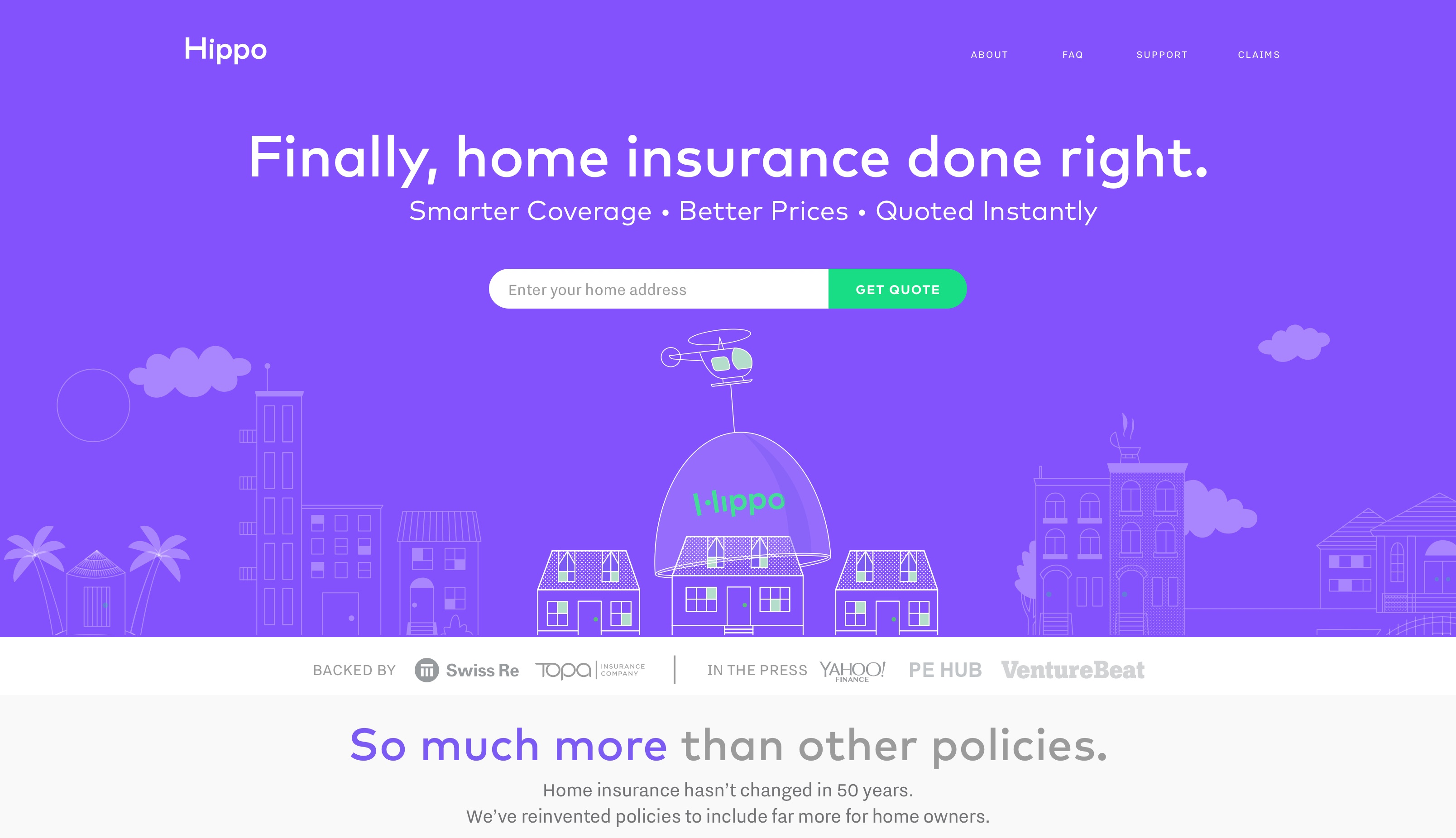Direct General Insurance Quotes Hippo Launches With Promise Of 60Second Homeowners Insurance Quote