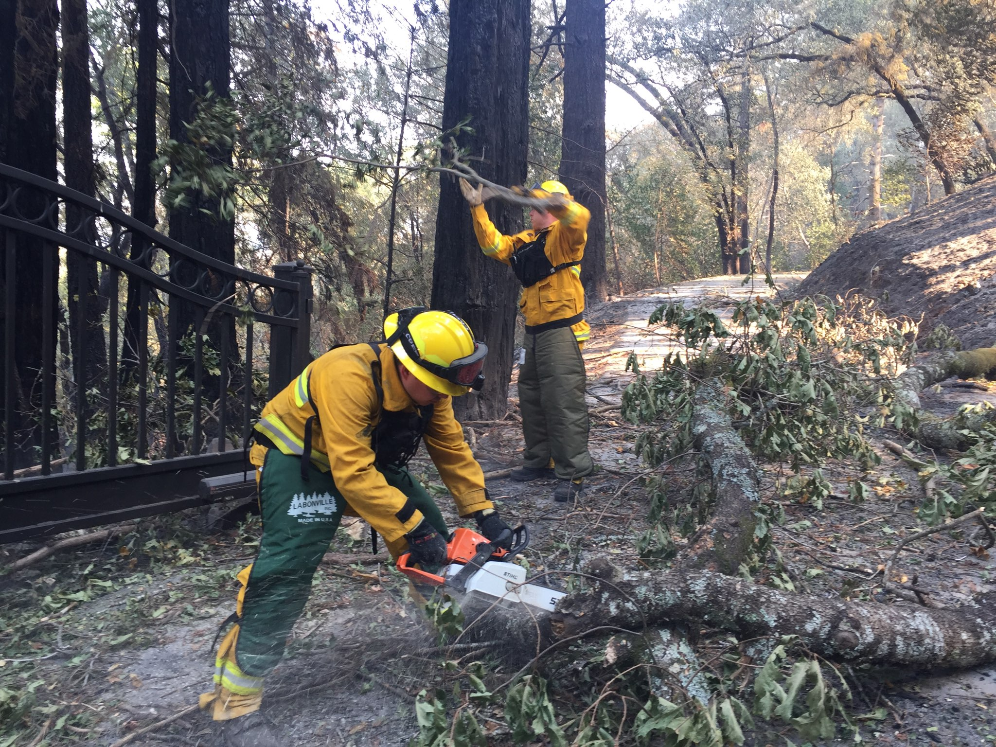 AIGs Wildfire Mitigation Specialists Work To Clear A Path Gain Access Policyholders Home During The October Wildfires In Northern California