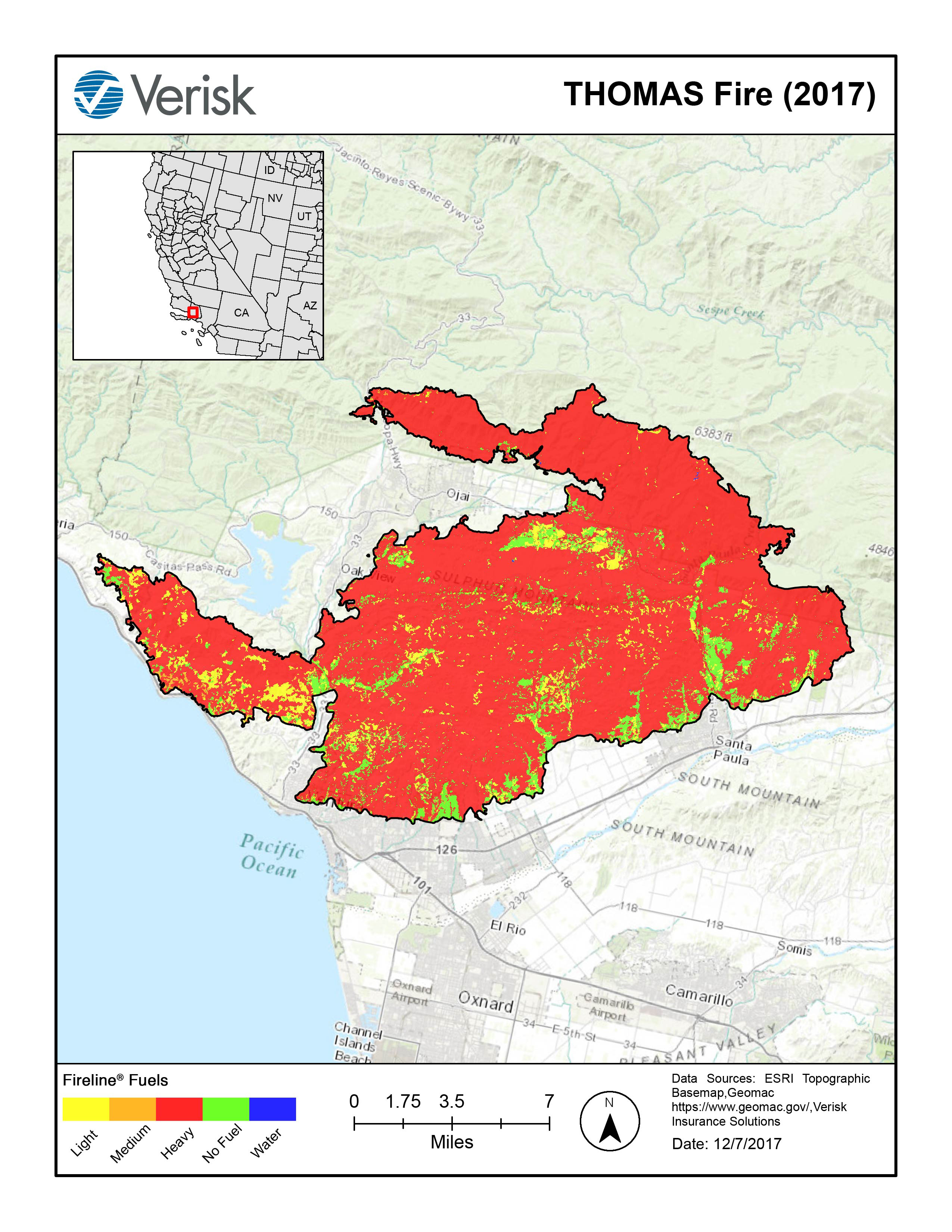 Verisk 96 Of The Area In California Fire At High Or Extreme