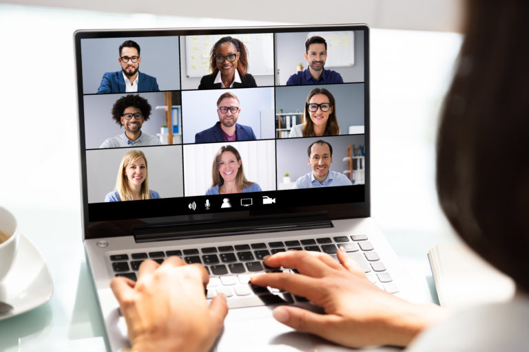 bigstock group teleconference while working from home 768x512 - Americans Ignore Risks of Cyber Attack at Work: Chubb Survey