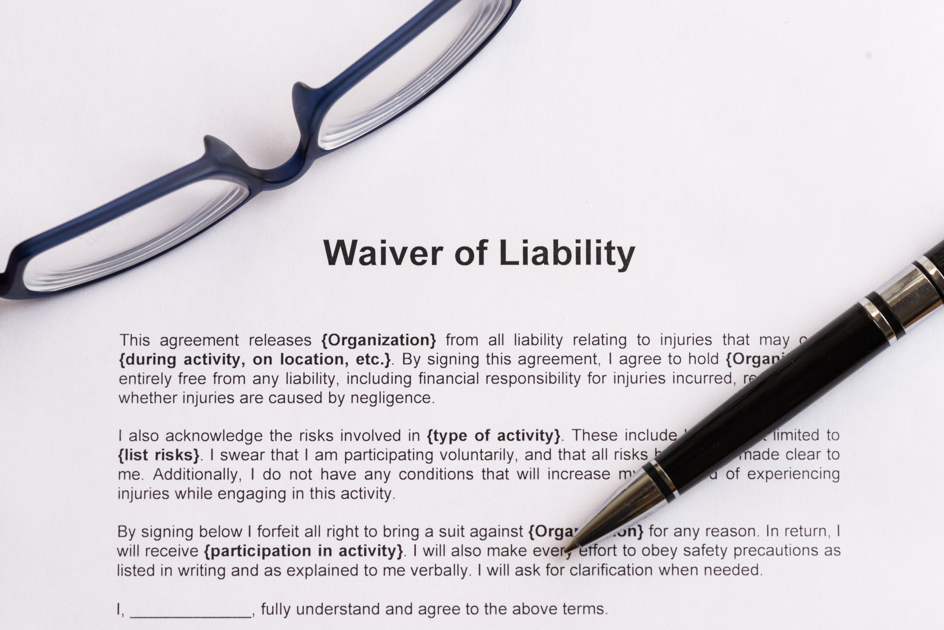 Sign Here First Reopening Businesses Turn To Liability Waivers