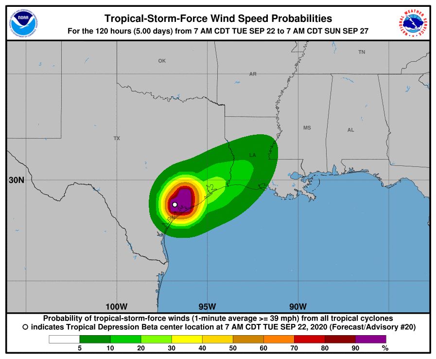 Rainy Beta Lands on Texas Coast as Tropical...