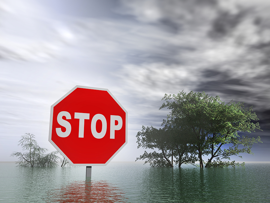 flooding stop sign