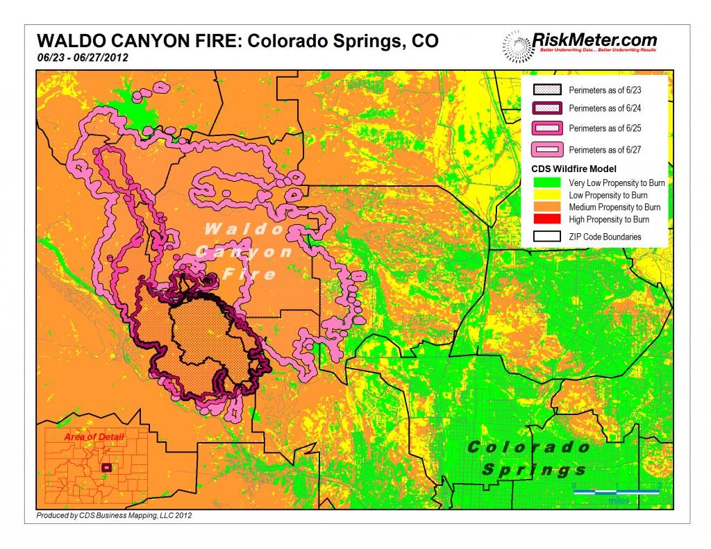 Burn Map of Waldo Canyon Fire