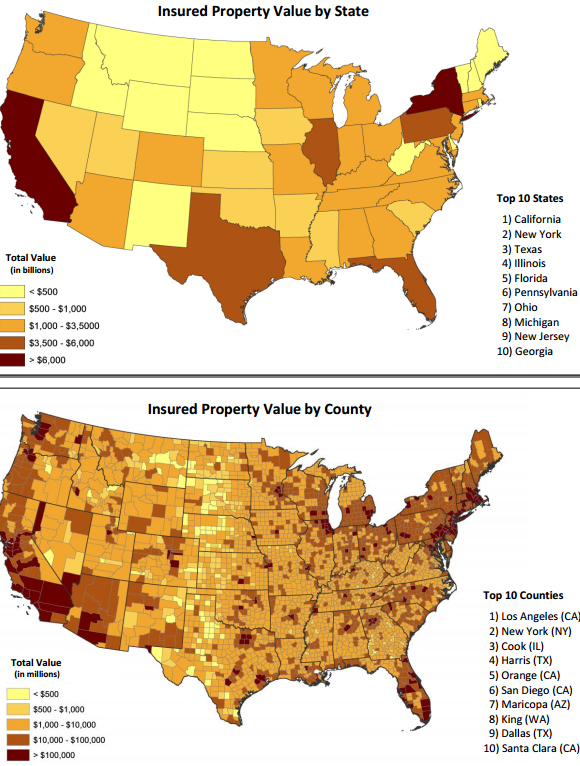 Report Shows Increasing Concentrations of Insured Property Values
