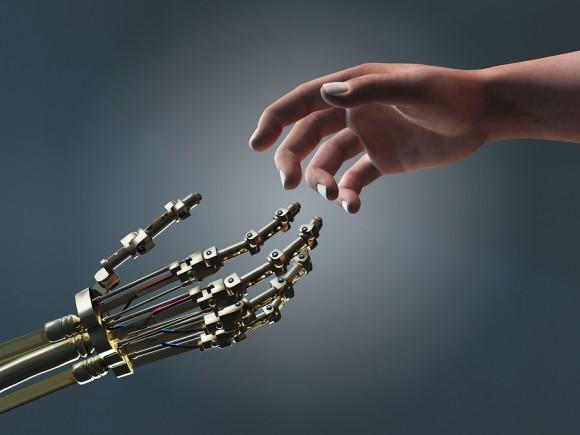 robot hand human