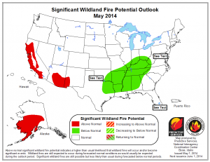 Significant Wildland Fire Potential Outlook May 2014