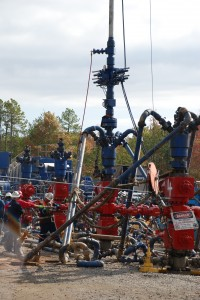 Fayettville Shale Fracking Site; Photo - USGS