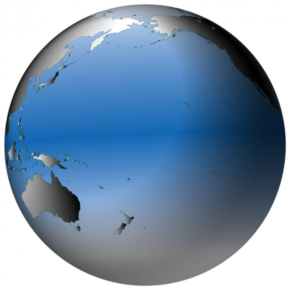 Pacific Ocean Global Map