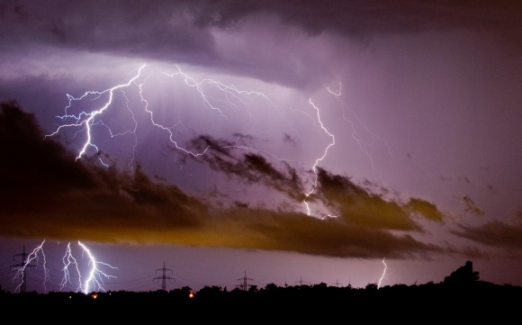 Storms in northern Germany during June 2014.