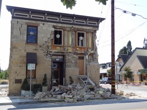 The historic Pfeiffer Building in downtown Napa suffered major damage from Napa's 6.1 earthquake. The building was the