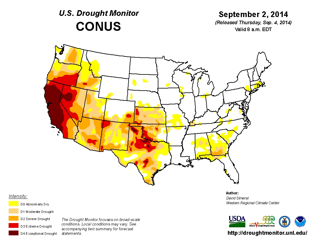 Paleo MegaDrought Bleeds All Over Western US - Us driught map