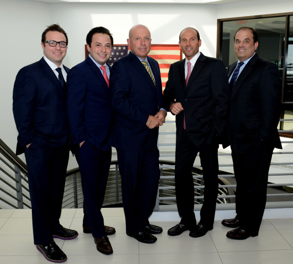 BWD Group's executive team, left to right: Adam Wilkins, marketing specialist; Brian T. Wilkins, managing director; Stuart B. Wilkins, principal; Marc J. Blumencranz, chief operating officer and principal; Eric S. Blumencranz, principal.