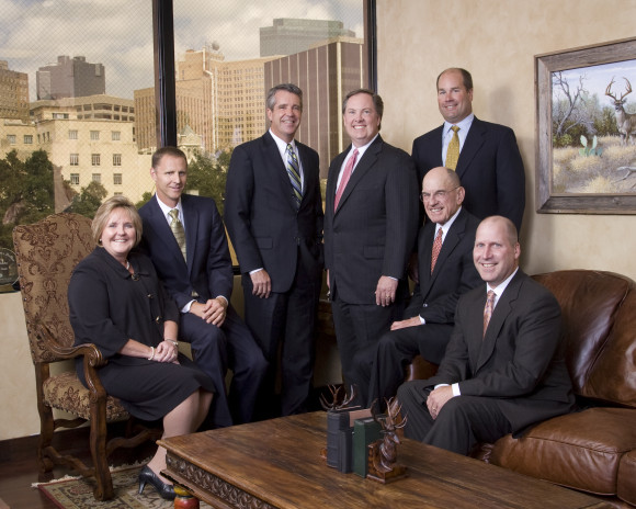 Higginbotham board of directors (left to right): Mary Russell, Chris Rooker, Michael Parks, Rusty Reid, Jim Hubbard, Morgan Woodruff and Jim Krause
