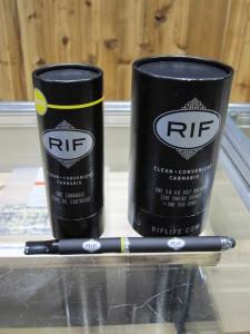 RIF (vape) products at Top Shelf Cannabis, Bellingham, WA.