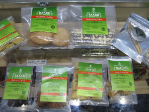 Marijuana edibles and pre-rolls at Top Shelf Cannabis, Bellingham, WA.