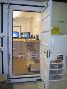 Safe room at Top Shelf Cannabis, Bellingham, WA.
